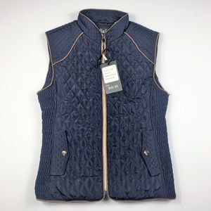 Lee HanTon Womens Junior XL Vest Quilted Blue New